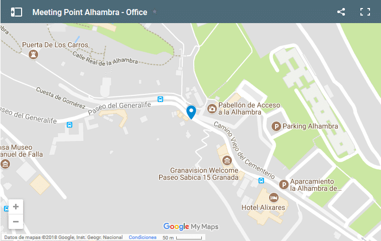 Oficina Tickets Alhambra meeting point